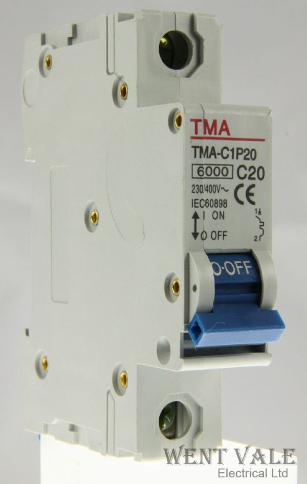 TMA - TMA-C1P20 - 20a Type C Single Pole MCB Un-used
